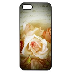 Roses Vintage Playful Romantic Apple Iphone 5 Seamless Case (black)