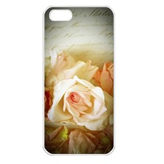 Roses Vintage Playful Romantic Apple Iphone 5 Seamless Case (white)