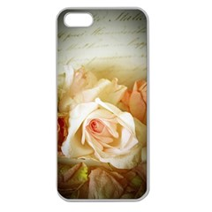 Roses Vintage Playful Romantic Apple Seamless Iphone 5 Case (clear)