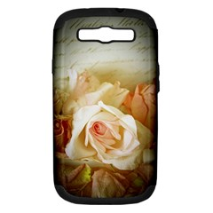 Roses Vintage Playful Romantic Samsung Galaxy S Iii Hardshell Case (pc+silicone)