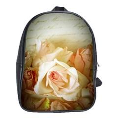 Roses Vintage Playful Romantic School Bag (xl)
