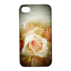 Roses Vintage Playful Romantic Apple Iphone 4/4s Hardshell Case With Stand