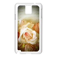 Roses Vintage Playful Romantic Samsung Galaxy Note 3 N9005 Case (white)