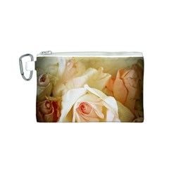 Roses Vintage Playful Romantic Canvas Cosmetic Bag (s)