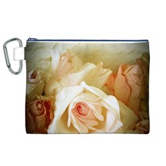 Roses Vintage Playful Romantic Canvas Cosmetic Bag (xl)