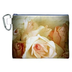 Roses Vintage Playful Romantic Canvas Cosmetic Bag (xxl)