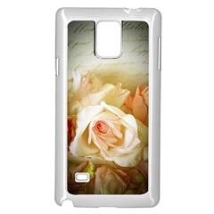Roses Vintage Playful Romantic Samsung Galaxy Note 4 Case (white)