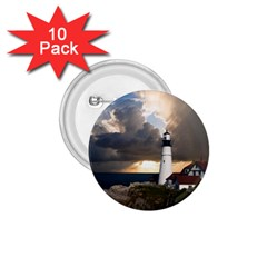 Lighthouse Beacon Light House 1 75  Buttons (10 Pack)