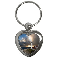 Lighthouse Beacon Light House Key Chains (heart)