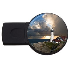 Lighthouse Beacon Light House Usb Flash Drive Round (2 Gb)