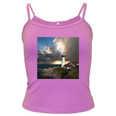 Lighthouse Beacon Light House Dark Spaghetti Tank