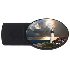 Lighthouse Beacon Light House Usb Flash Drive Oval (4 Gb)