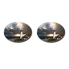 Lighthouse Beacon Light House Cufflinks (oval)