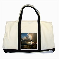 Lighthouse Beacon Light House Two Tone Tote Bag
