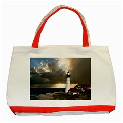 Lighthouse Beacon Light House Classic Tote Bag (red)
