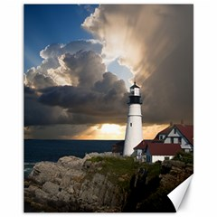 Lighthouse Beacon Light House Canvas 11  X 14