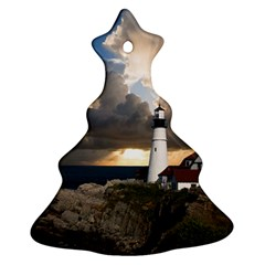 Lighthouse Beacon Light House Christmas Tree Ornament (two Sides)