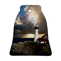 Lighthouse Beacon Light House Bell Ornament (two Sides)