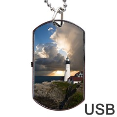 Lighthouse Beacon Light House Dog Tag Usb Flash (two Sides)