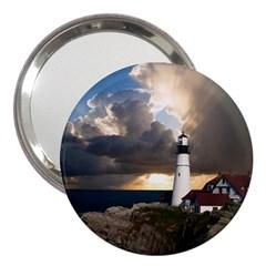 Lighthouse Beacon Light House 3  Handbag Mirrors