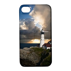 Lighthouse Beacon Light House Apple Iphone 4/4s Hardshell Case With Stand
