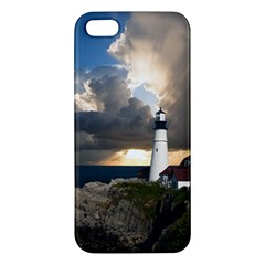 Lighthouse Beacon Light House Apple Iphone 5 Premium Hardshell Case