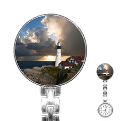 Lighthouse Beacon Light House Stainless Steel Nurses Watch