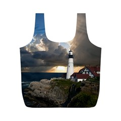 Lighthouse Beacon Light House Full Print Recycle Bags (m)