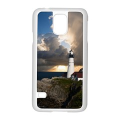 Lighthouse Beacon Light House Samsung Galaxy S5 Case (white)