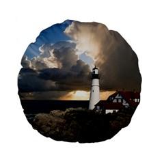 Lighthouse Beacon Light House Standard 15  Premium Flano Round Cushions