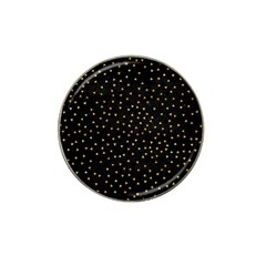 Grunge Pattern Black Triangles Hat Clip Ball Marker (4 Pack)