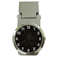 Grunge Pattern Black Triangles Money Clip Watches
