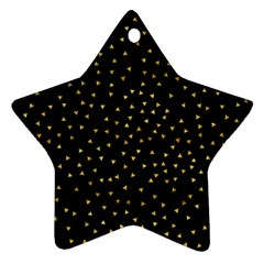 Grunge Pattern Black Triangles Star Ornament (two Sides)