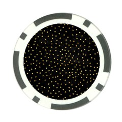Grunge Pattern Black Triangles Poker Chip Card Guard