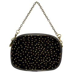 Grunge Pattern Black Triangles Chain Purses (two Sides)