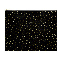Grunge Pattern Black Triangles Cosmetic Bag (xl)
