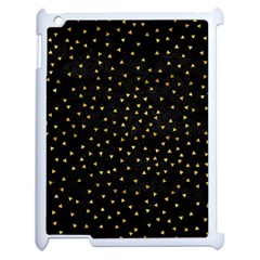 Grunge Pattern Black Triangles Apple Ipad 2 Case (white)