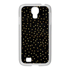 Grunge Pattern Black Triangles Samsung Galaxy S4 I9500/ I9505 Case (white)
