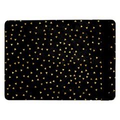 Grunge Pattern Black Triangles Samsung Galaxy Tab Pro 12 2  Flip Case