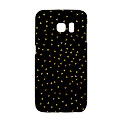 Grunge Pattern Black Triangles Galaxy S6 Edge