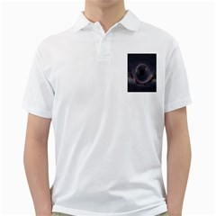 Black Hole Blue Space Galaxy Star Golf Shirts