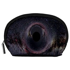 Black Hole Blue Space Galaxy Star Accessory Pouches (large)