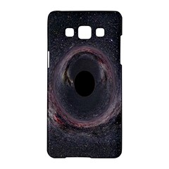 Black Hole Blue Space Galaxy Star Samsung Galaxy A5 Hardshell Case