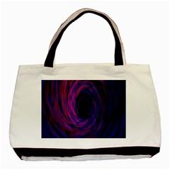 Black Hole Rainbow Blue Purple Basic Tote Bag