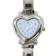 Bleu Pink Line Vertical Heart Italian Charm Watch