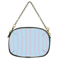 Bleu Pink Line Vertical Chain Purses (two Sides)