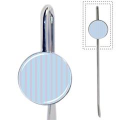 Bleu Pink Line Vertical Book Mark
