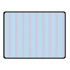 Bleu Pink Line Vertical Fleece Blanket (small)