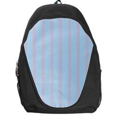 Bleu Pink Line Vertical Backpack Bag