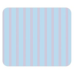 Bleu Pink Line Vertical Double Sided Flano Blanket (small)